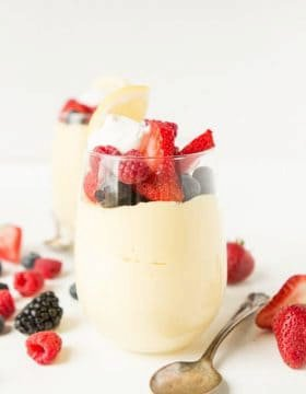 Lemon Cheesecake Mousse Cups