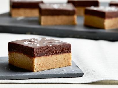 Peanut Butter Bars with Salted Chocolate Ganache