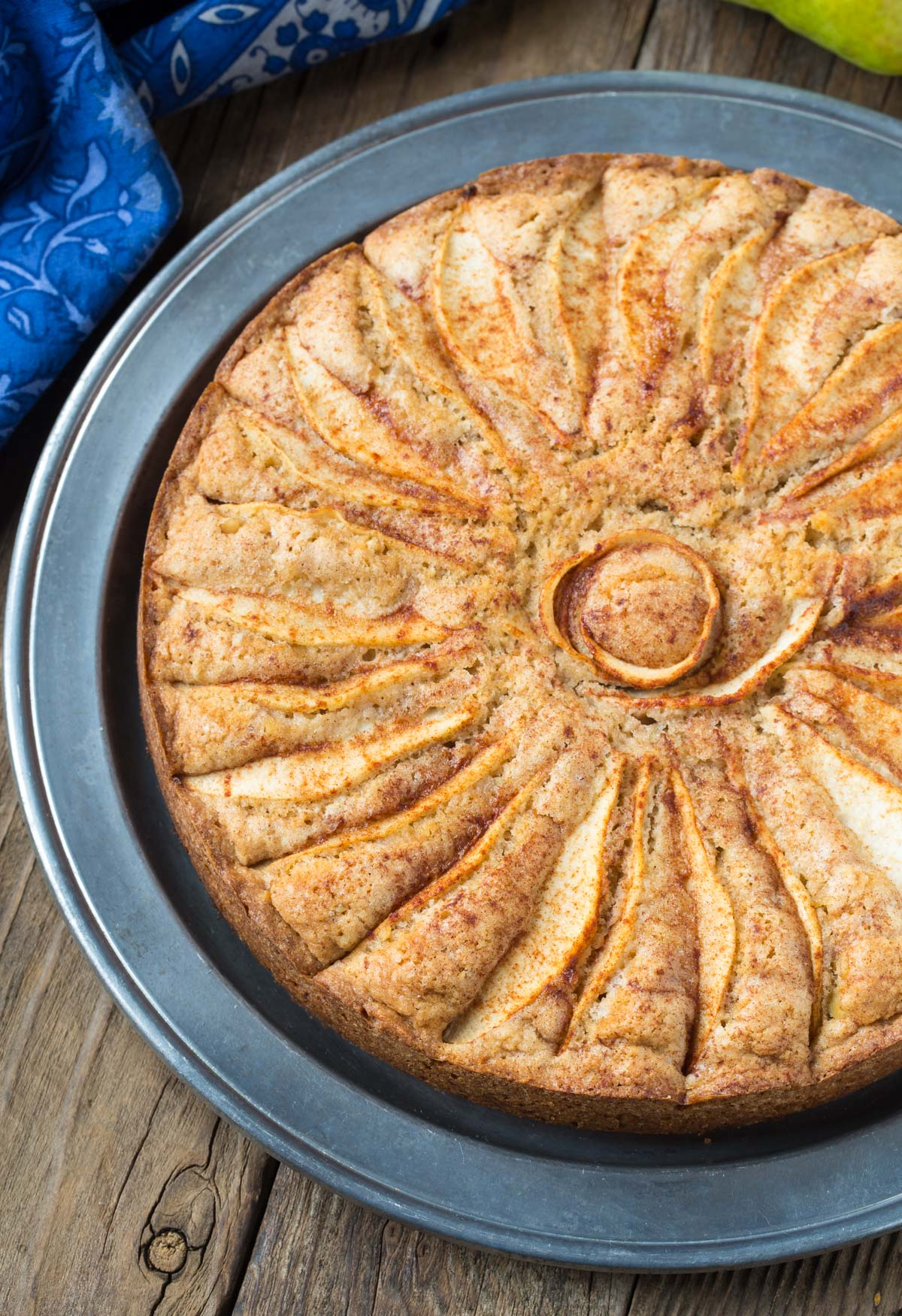 Spiced Walnut Pear Cake Recipe