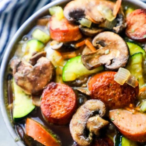 Spicy sausage vegetable soup recipe