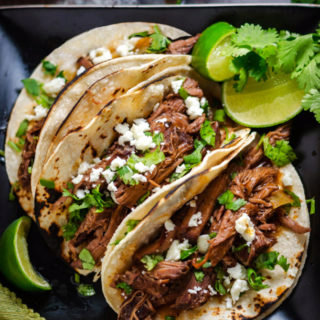 Slow Cooker Ancho Coffee Shredded Beef