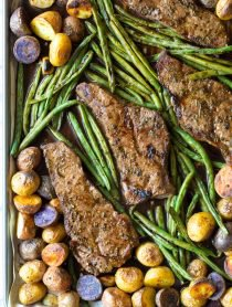 Balsamic Steak Sheet Pan Dinner
