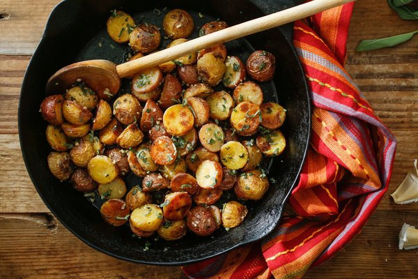 Roasted Potatoes With Sage and Garlic