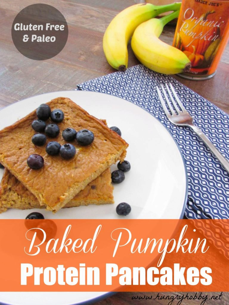 Oven Baked Pumpkin Protein Pancakes