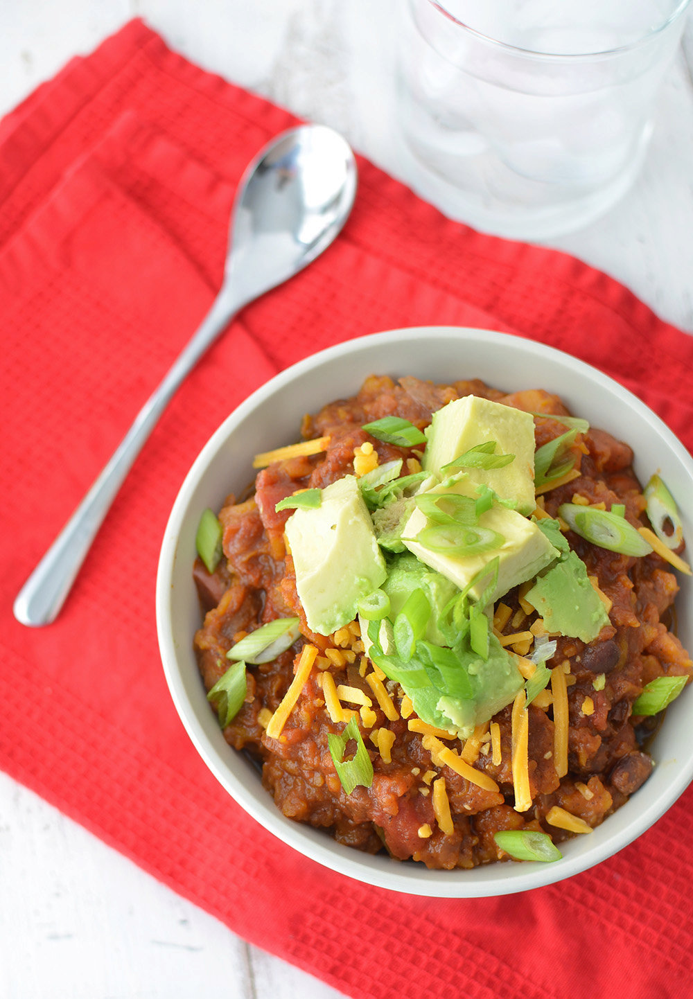 Slow Cooker Butternut Squash and Black Bean Chili