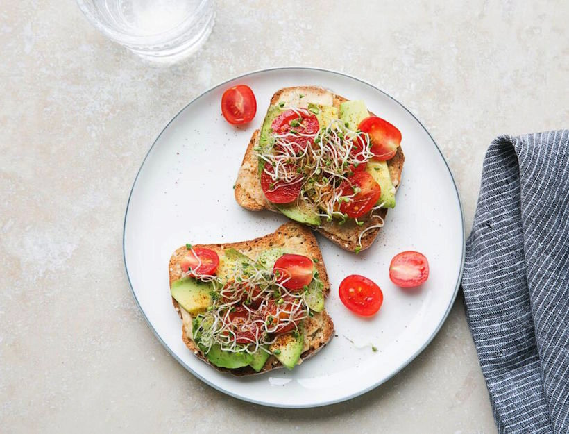 Hummus Tartine with Sprouts