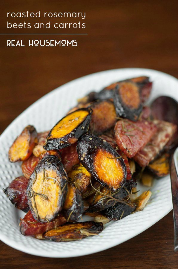 Roasted Rosemary Beets and Carrots