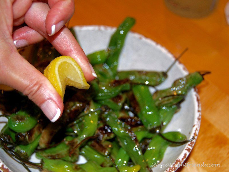 Shishito Peppers with Lemon and Garlic