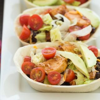 BBQ Chicken Taco Bowls + VIDEO (stovetop, slow cooker or Instant Pot)