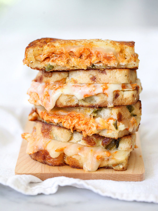 Buffalo Chicken Grilled Cheese and How to Get an Epic Grilled Cheese Photo