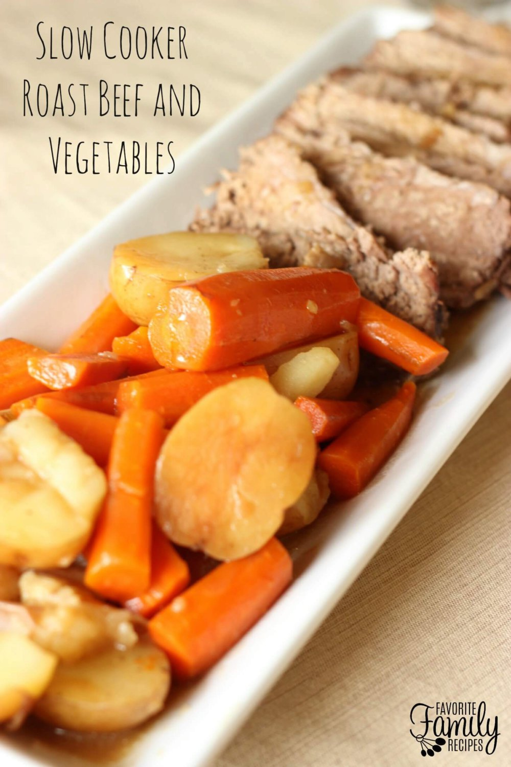 Slow Cooker Roast Beef and Vegetables