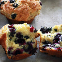 Top Heavy Blueberry Muffins