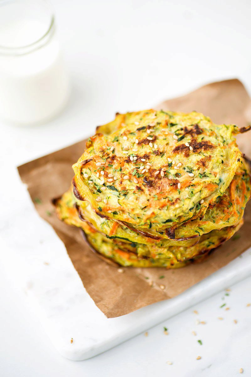 Baked Zucchini and Carrot Pancakes