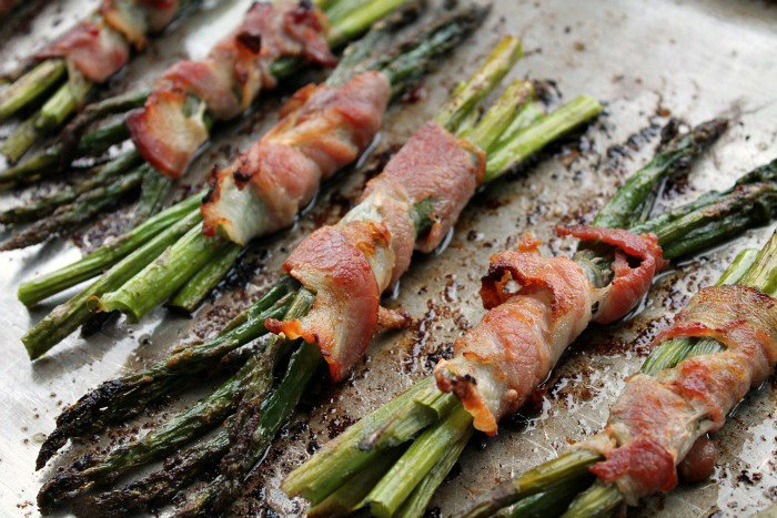 Bacon wrapped Roasted Asparagus