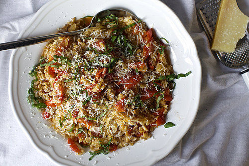 One Pan Farro with Tomatoes