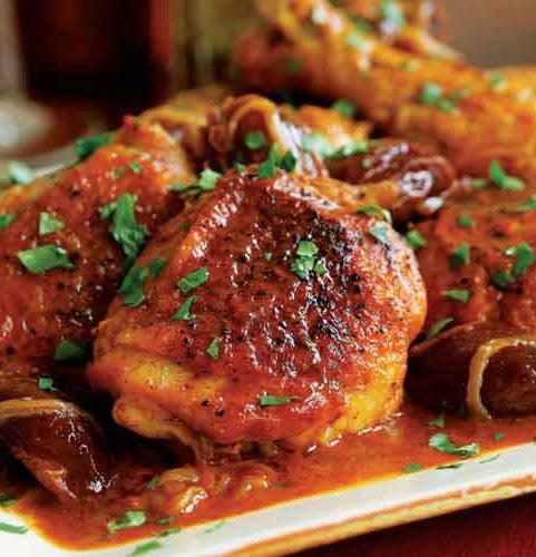 Braised Chicken with Chiles