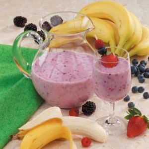 Berry Banana Smoothies Recipe