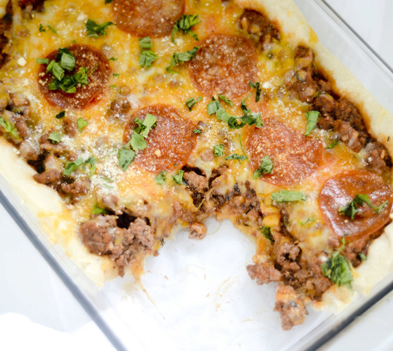 Weight Watcher's Deep Dish Pizza Casserole