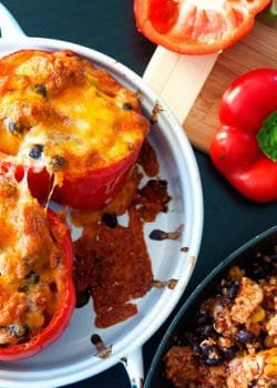 Southwestern Chicken Stuffed Peppers