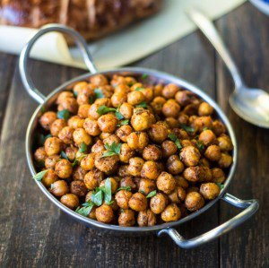 Sumac and Spice Roasted Chickpeas