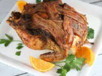Roasted Chicken with Bacon and Sweet Paprika