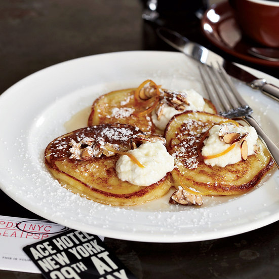 April Bloomfield's Ricotta Pancakes with Orange Syrup