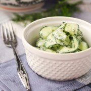 Cucumber Ribbon Salad with Yogurt Herb Dressing