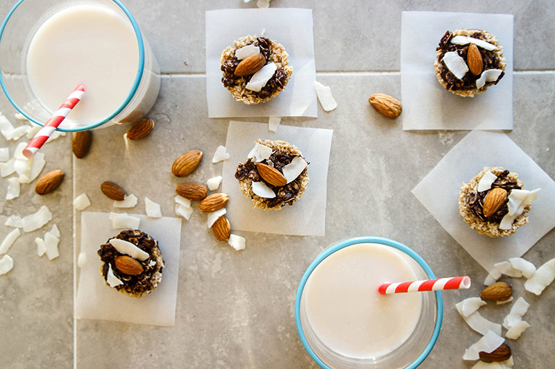 5-Minute, No-Bake Almond Joy Cookies