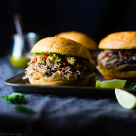 """""""Pho"""" Slow Cooker Pulled Pork Sandwiches"""