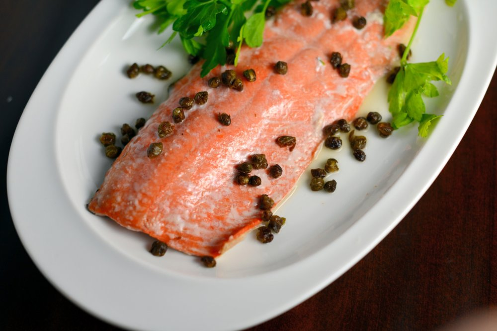 Crispy Caper Lemon Salmon