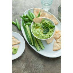 Spicy Green Almond Hummus (Paleo, Vegan)