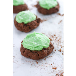 Double Chocolate Cookies with Baileys Buttercream Frosting