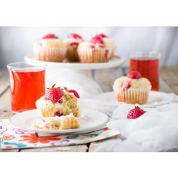 Soft and airy strawberry coconut muffins