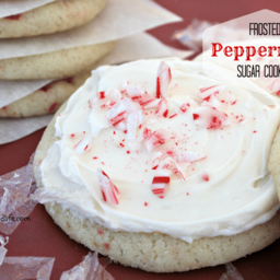 Frosted Peppermint Sugar Cookies