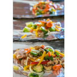 Loaded Chicken Foil Packets