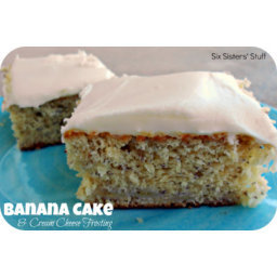 Banana Cake and Fluffy Cream Cheese Frosting
