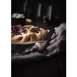 Rustic Roasted Beets And Goat Cheese Galette