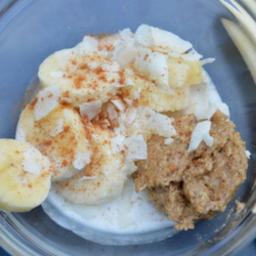 Banana with Almond Butter & Coconut