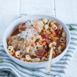 Bowl Full - Roasted Chicken Minestrone Soup