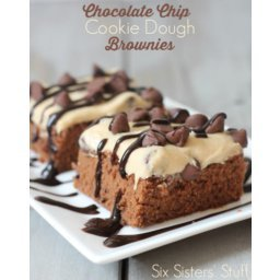 Chocolate Chip Cookie Dough Brownie Bars