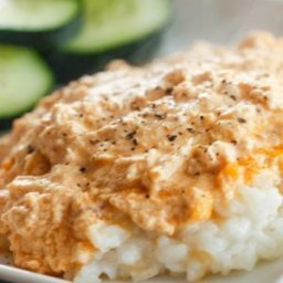Creamy Buffalo Chicken Casserole