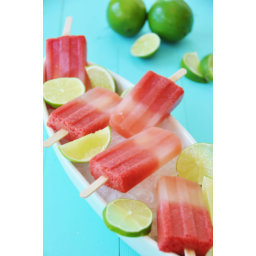 Watermelon Lime Popsicles - No Added Sugar!