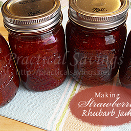 Making and Canning Strawberry Rhubarb Jam