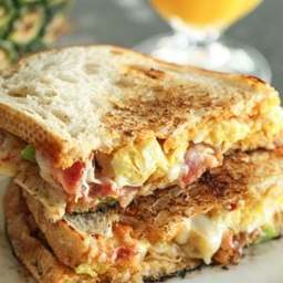 Breakfast Grilled Cheese Melt