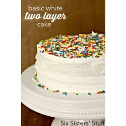 Basic White Two-Layer Cake and White Buttercream Frosting