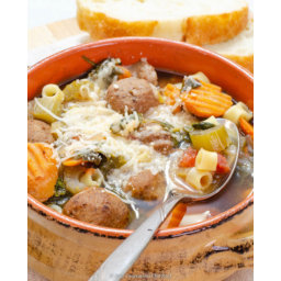 Mom's Meatball Stew Crockpot Recipe with Pasta