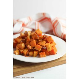 Oven-Roasted Sweet Potatoes with Bacon