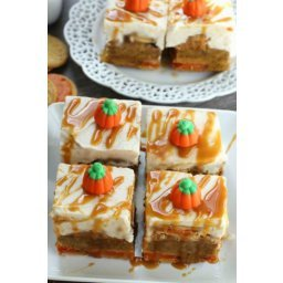 Caramel Pumpkin Oreo Blondies