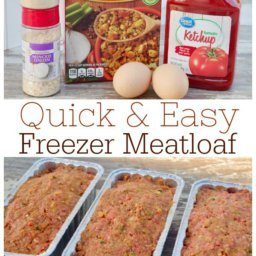 Quick and Easy Freezer Meatloaf