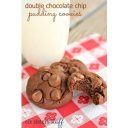 Double Chocolate Chip Pudding Cookies